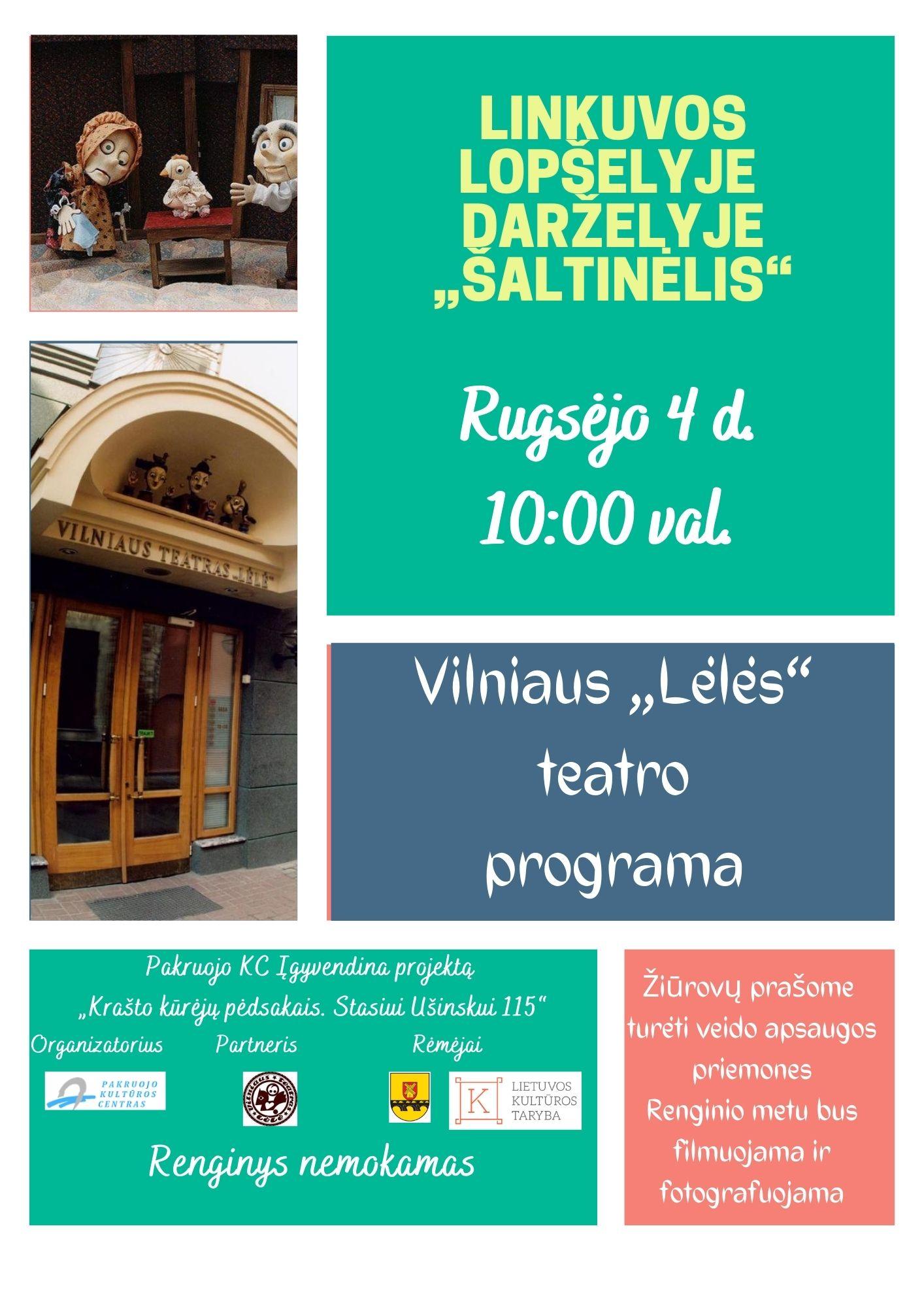 """Vilniaus """"Lėlės"""" teatro gastrolės Linkuvoje"""